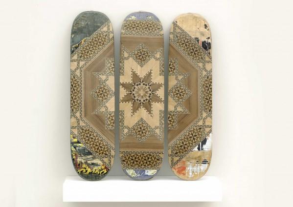 Benjamin Kovcacsy,Taracea skateboards, 2010, 70x 75x 20